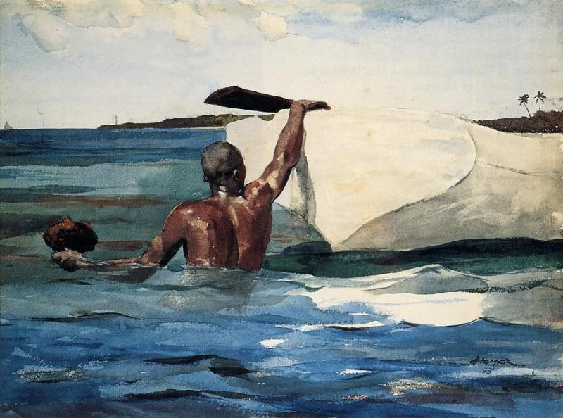 The Sponge Diver by Winslow Homer