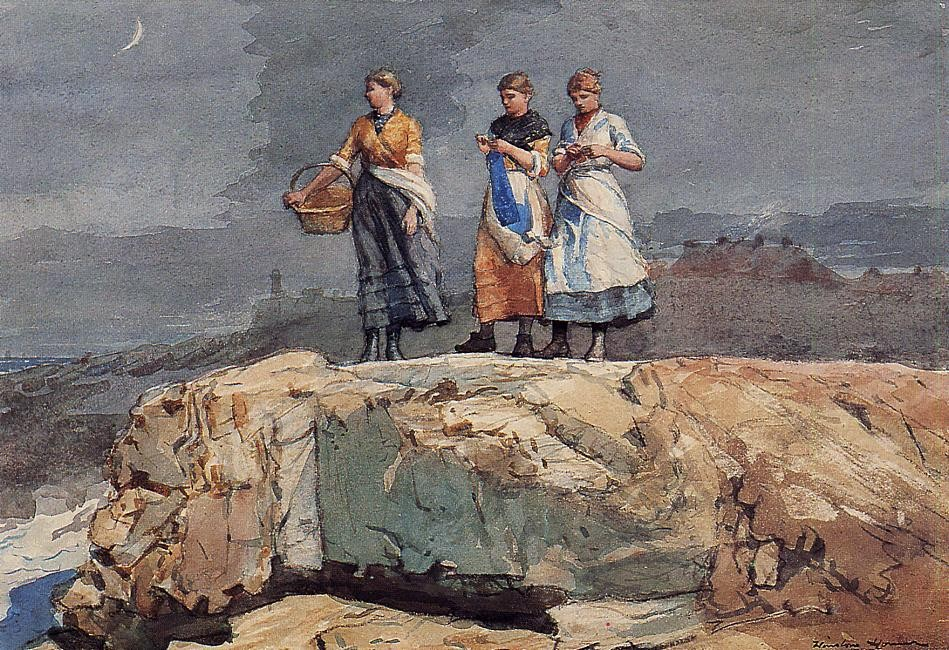Where are the Boats aka by Winslow Homer