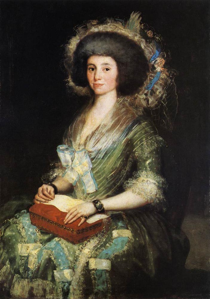 Portrait Of The Wife Of Juan Agustin Cean Bermudez by Francisco José de Goya y Lucientes