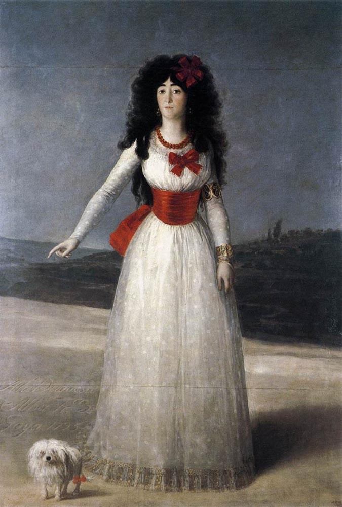 The Duchess Of Alba by Francisco José de Goya y Lucientes