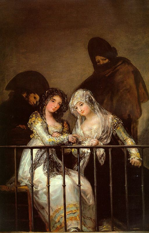 Majas On A Balcony by Francisco José de Goya y Lucientes