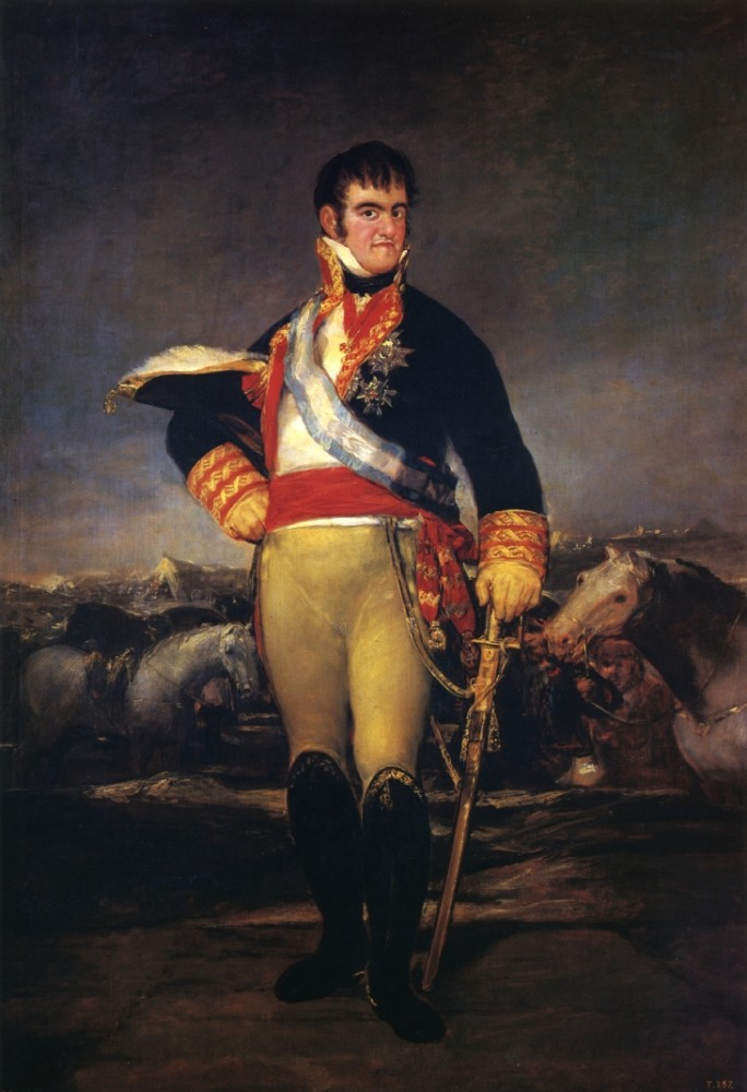 Fernando VII In An Encampment by Francisco José de Goya y Lucientes