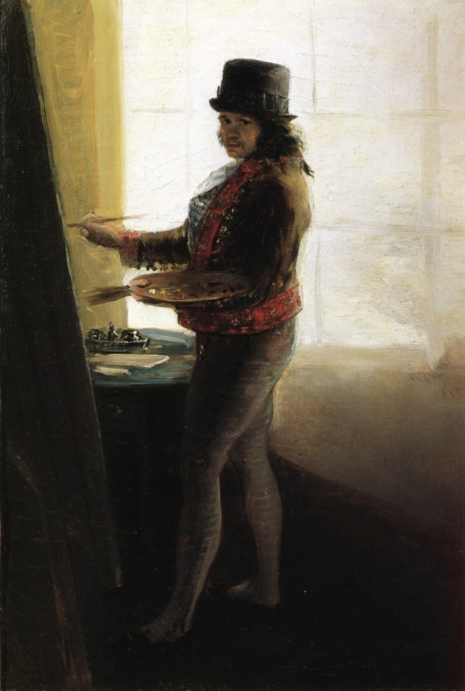 Goya In His Studio by Francisco José de Goya y Lucientes