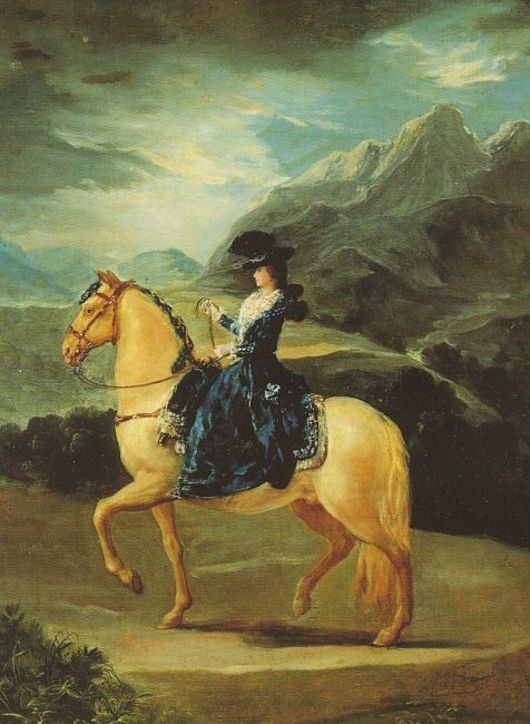 Maria Teresa Of Vallabriga On Horseback by Francisco José de Goya y Lucientes