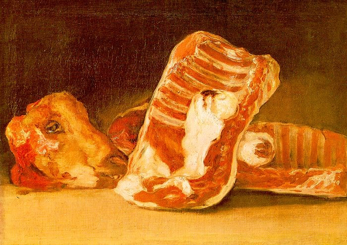 Still Life With Sheeps Head by Francisco José de Goya y Lucientes