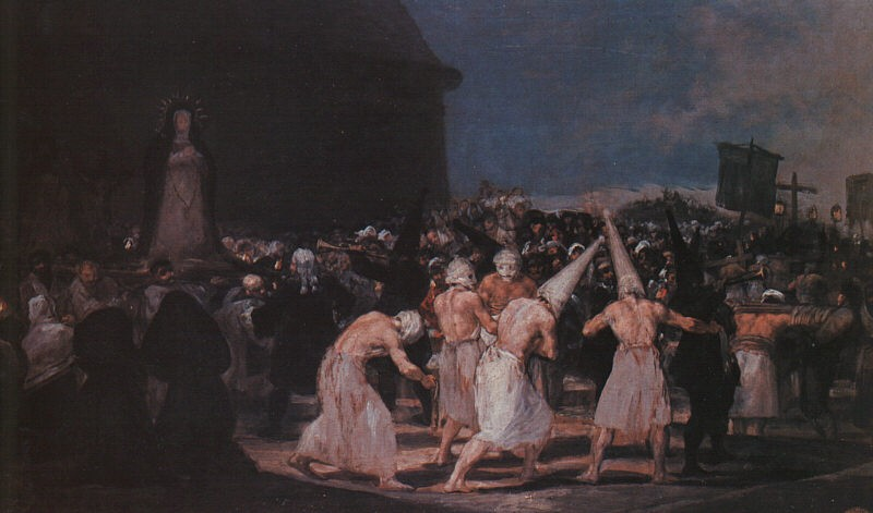 Procession Of Flagellants On Good Friday by Francisco José de Goya y Lucientes