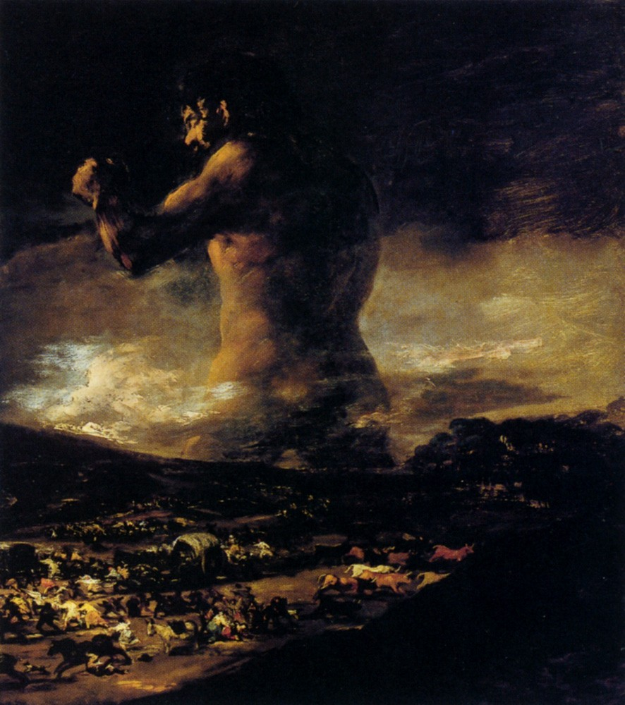 The Colossus by Francisco José de Goya y Lucientes