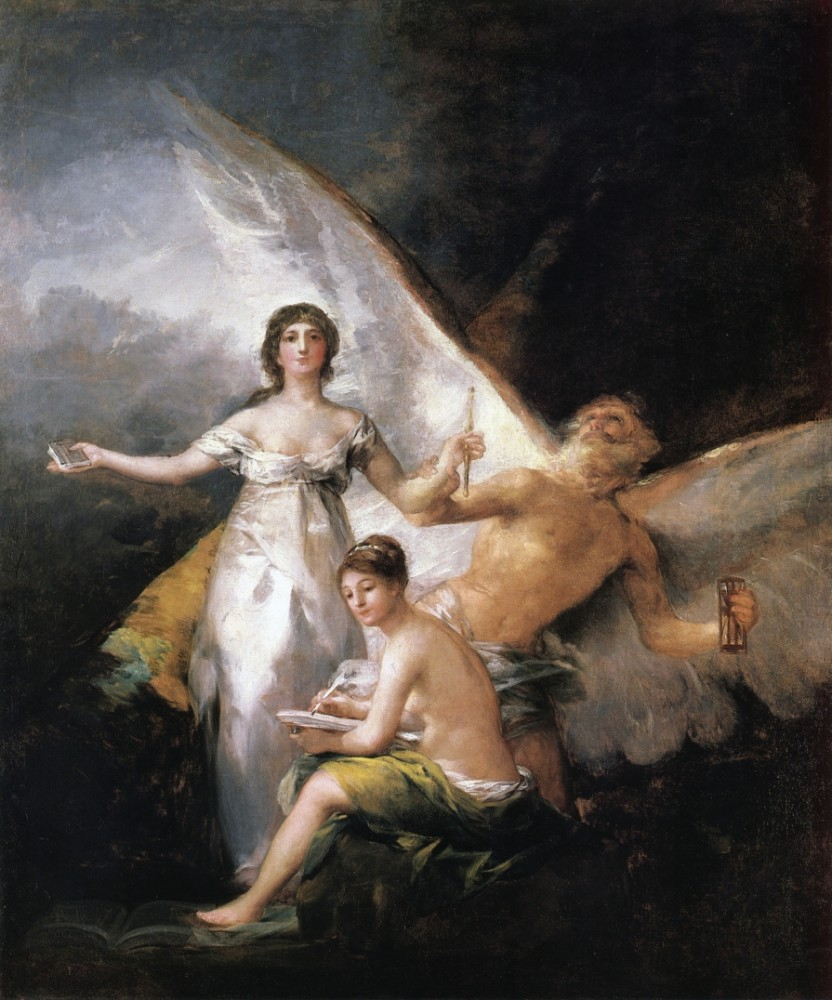 Allegory On The Adaption Of The Constitution Of 1812 by Francisco José de Goya y Lucientes