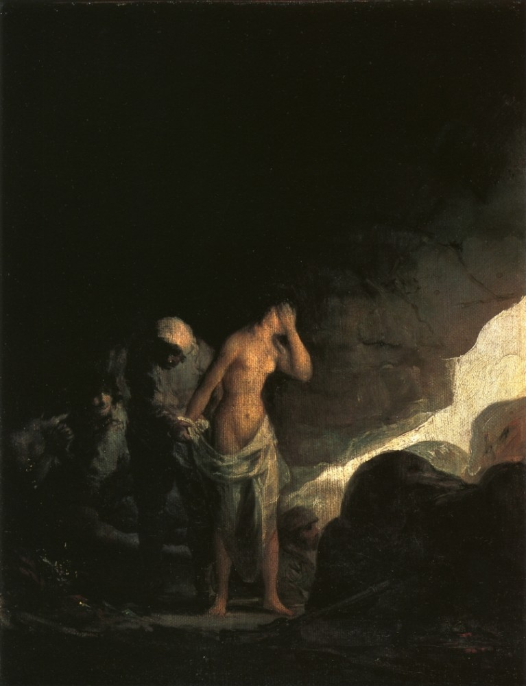 Brigand Stripping A Woman by Francisco José de Goya y Lucientes