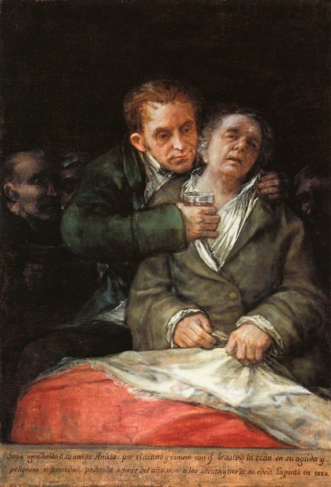 Goya Attended By Doctor Arrieta by Francisco José de Goya y Lucientes