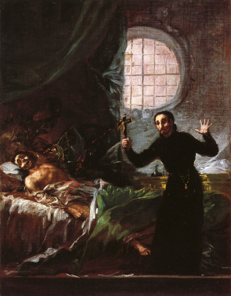 St Francis Borgia At The Deathbed Of An Impenitent by Francisco José de Goya y Lucientes