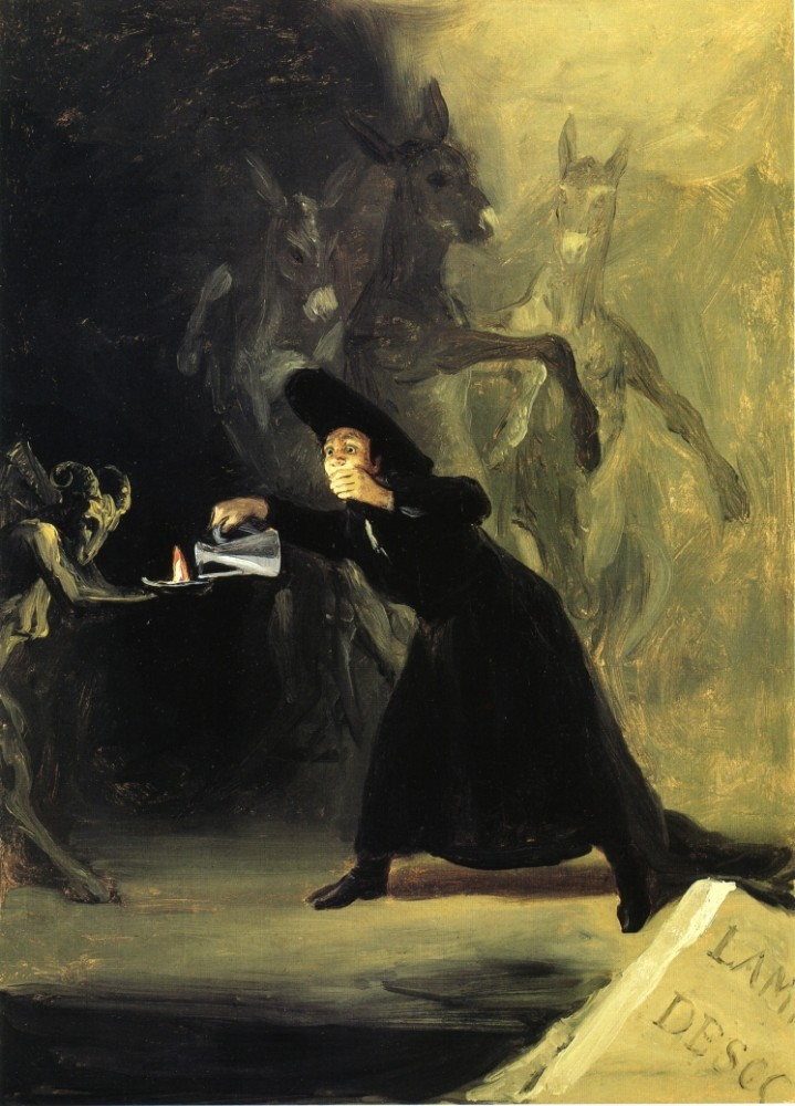 The Devil's Lamp by Francisco José de Goya y Lucientes