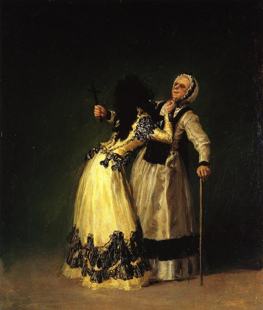The Duchess Of Alba And Her Duenna by Francisco José de Goya y Lucientes