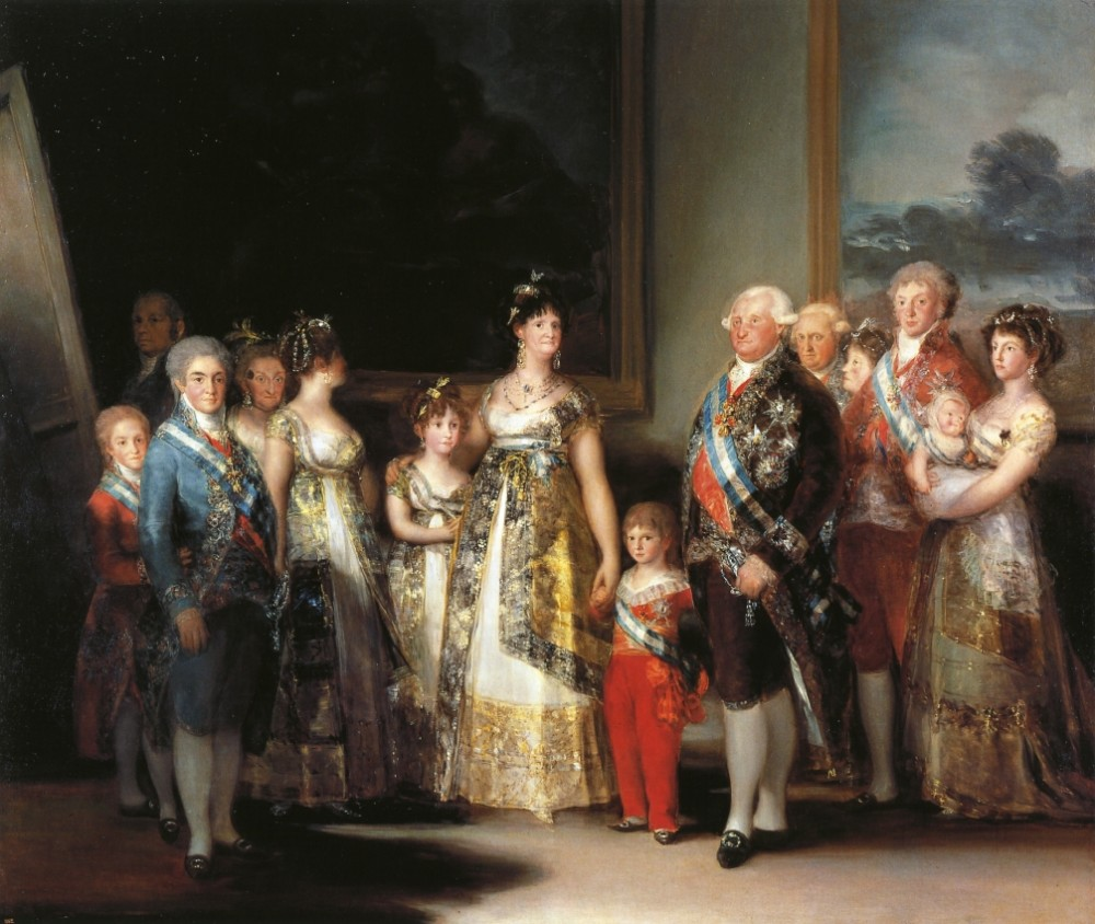 The Family Of Chaffrles IV by Francisco José de Goya y Lucientes