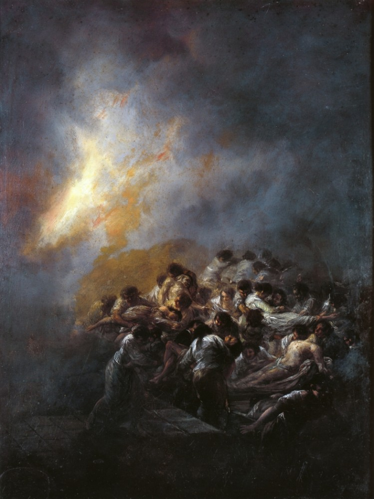 The Fire At Night by Francisco José de Goya y Lucientes