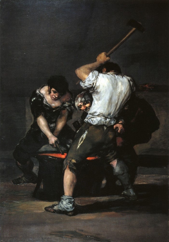 The Forge by Francisco José de Goya y Lucientes