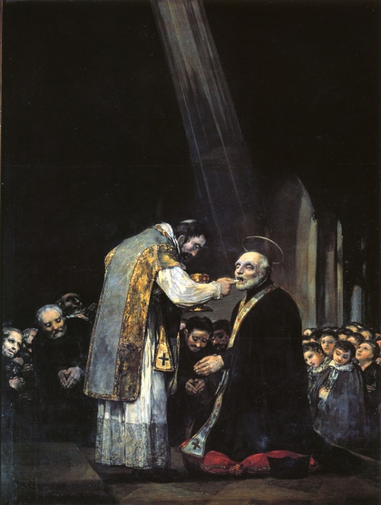 The Last Communion Of St Joseph Of Calasanz by Francisco José de Goya y Lucientes