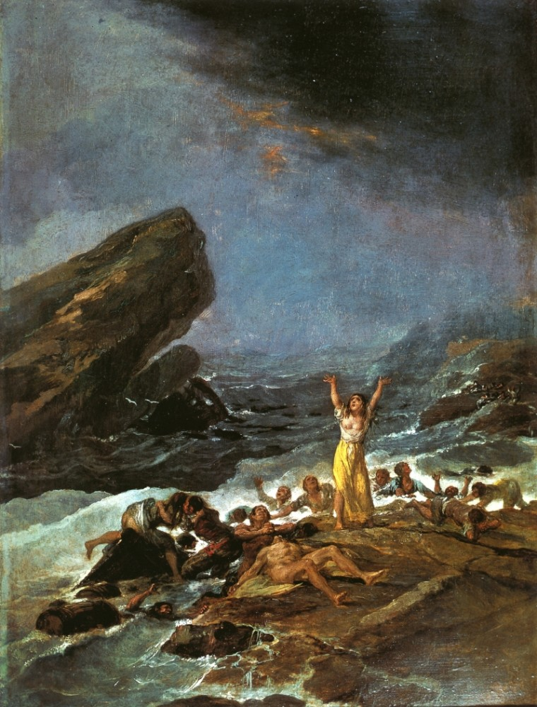 The Shipwreck II by Francisco José de Goya y Lucientes