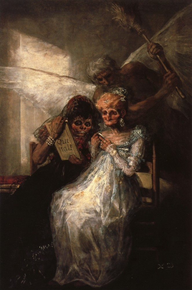 Time And The Old Woman by Francisco José de Goya y Lucientes