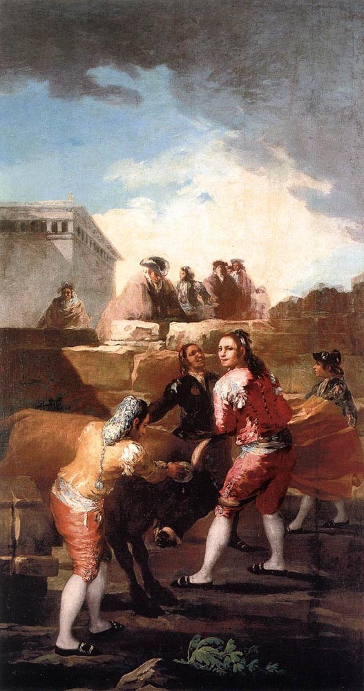 Fight With A Young Bull by Francisco José de Goya y Lucientes