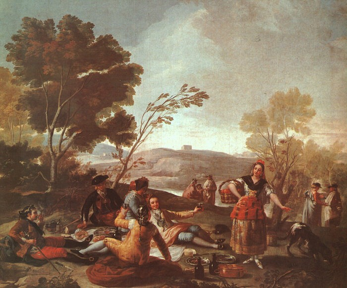 Picnic On The Banks Of The Manzanares by Francisco José de Goya y Lucientes