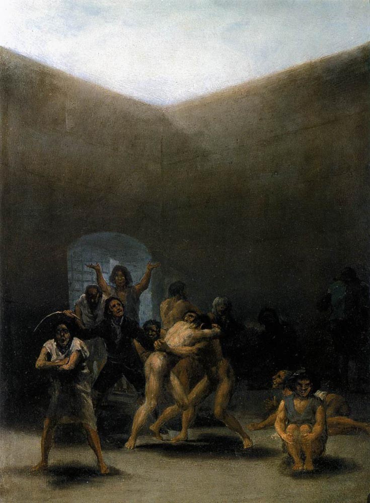 The Yard Of A Madhouse by Francisco José de Goya y Lucientes