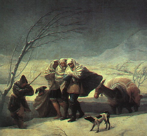 Winter The Snowstorm by Francisco José de Goya y Lucientes