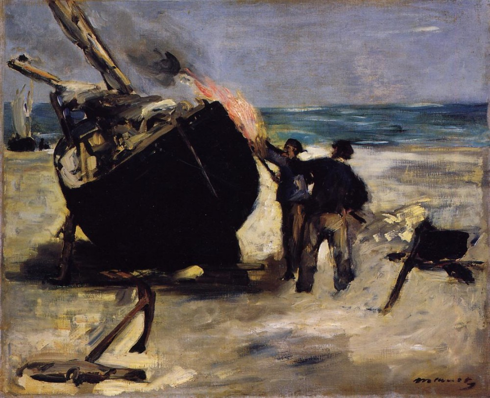 Tarring The Boat by Édouard Manet