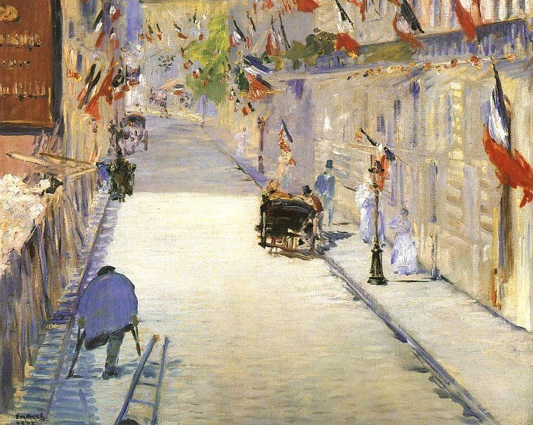 Rue Mosnier with Flags by Édouard Manet