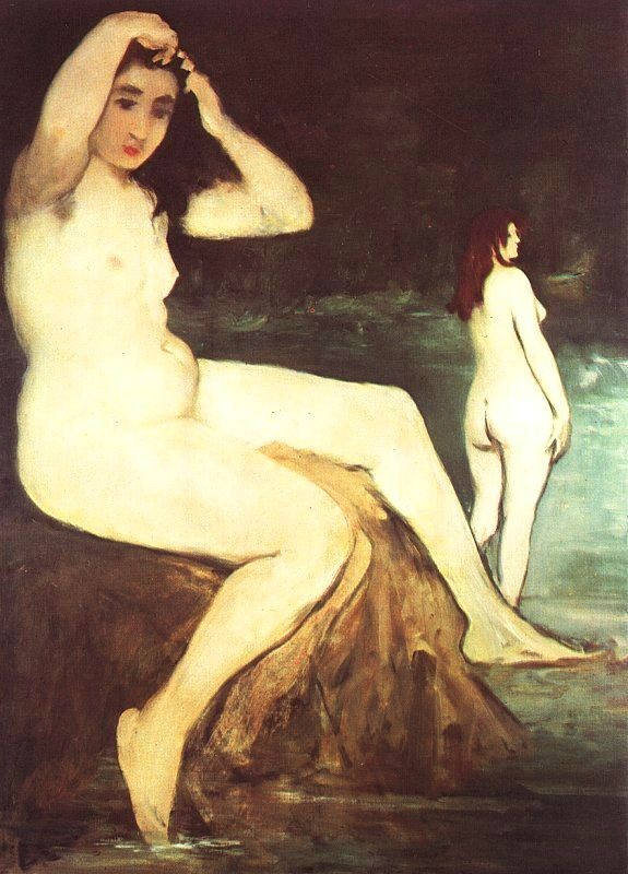 Bathers on the Seine by Édouard Manet