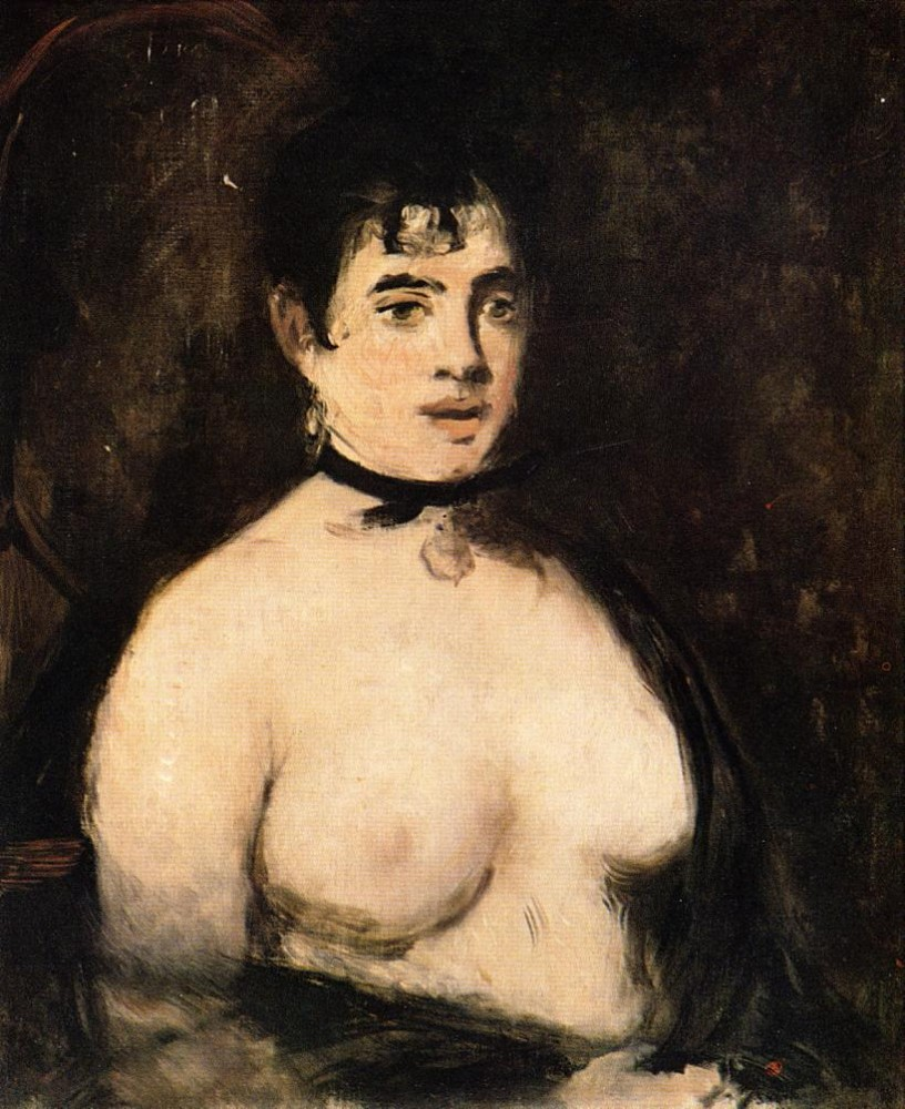The Brunette With Bare Breasts by Édouard Manet