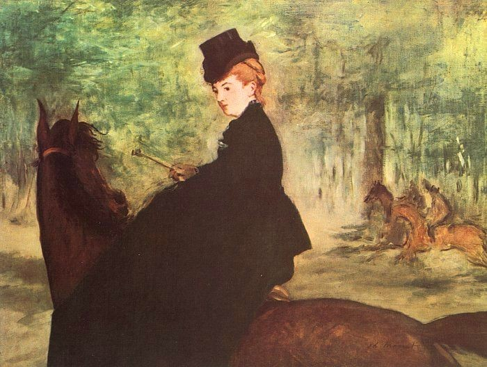 The Horsewoman by Édouard Manet