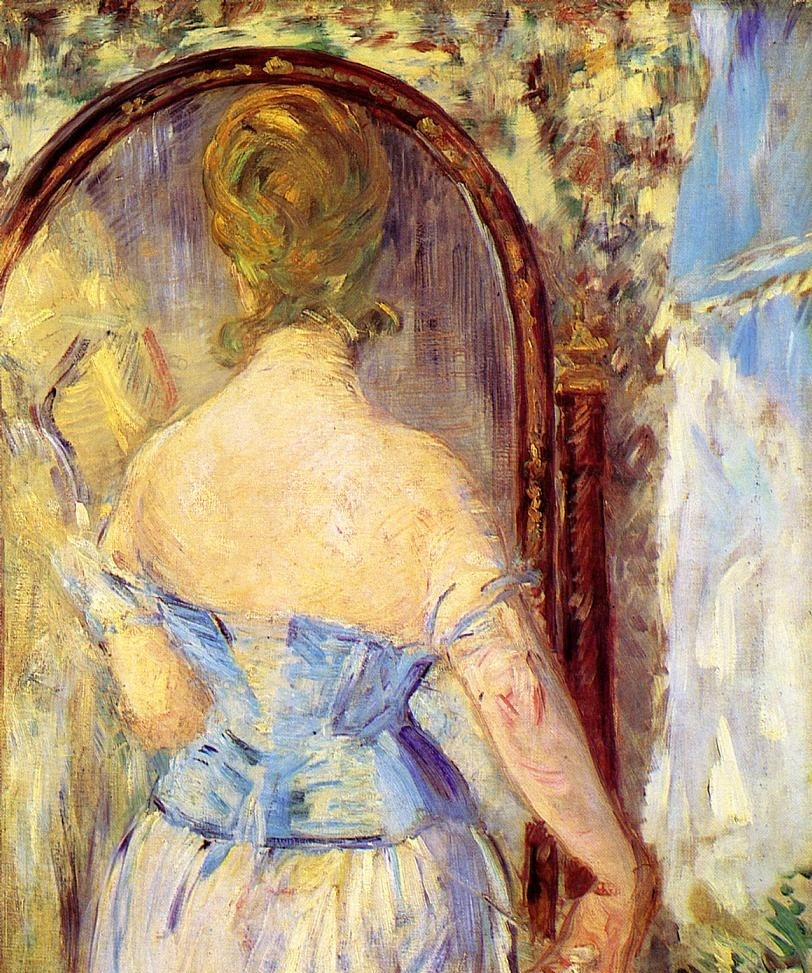 Before The Mirror by Édouard Manet
