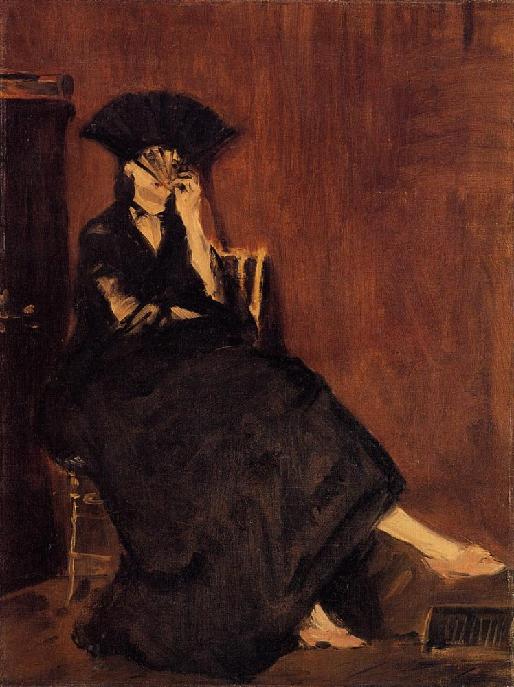 Berthe Morisot With A Fan by Édouard Manet