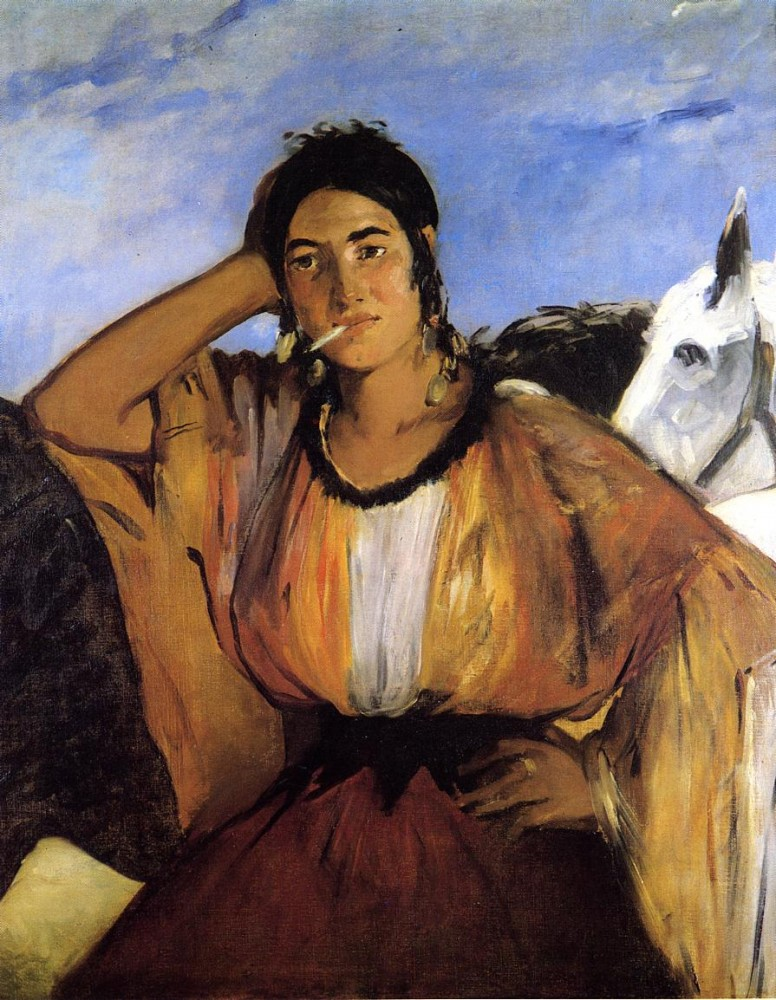 Gypsy With A Cigarette by Édouard Manet