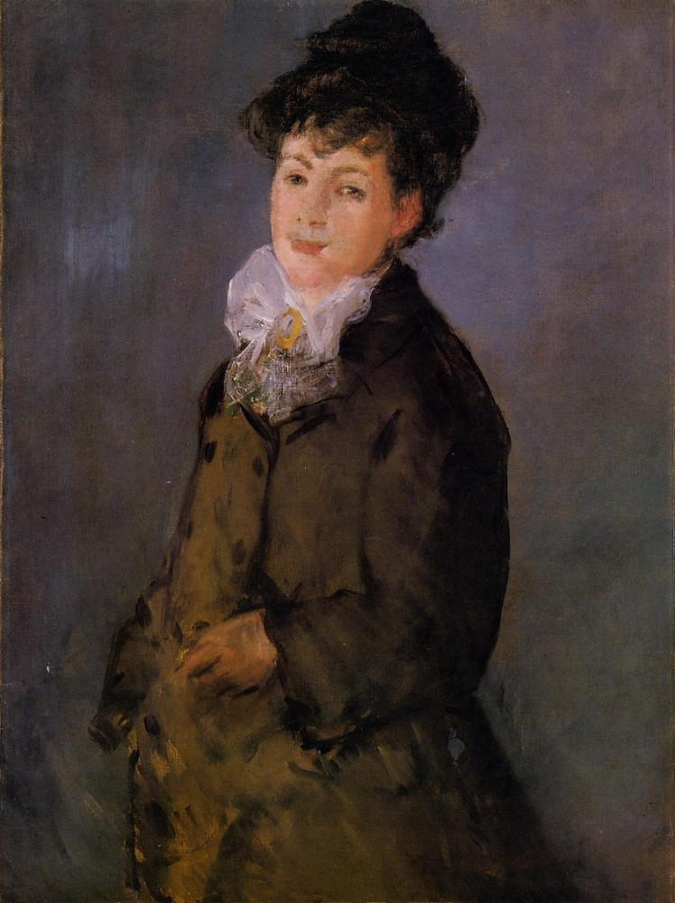Isabelle Lemonnier With A White Scarf by Édouard Manet
