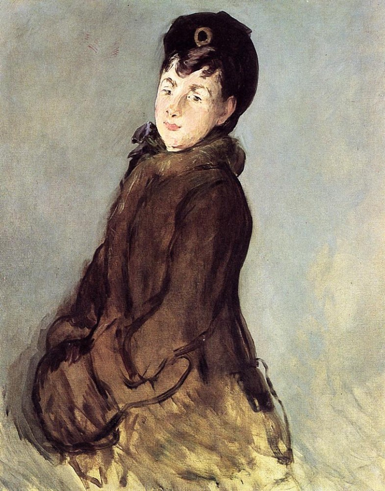 Isabelle Lemonnier With Muff by Édouard Manet