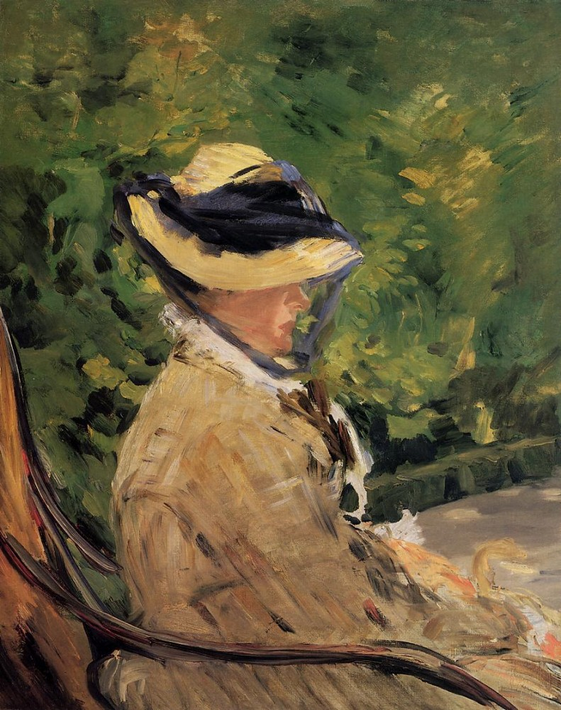Madame Manet At Bellevue by Édouard Manet