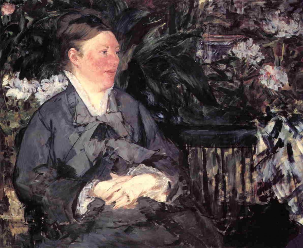 Madame Manet In The Conservatory by Édouard Manet