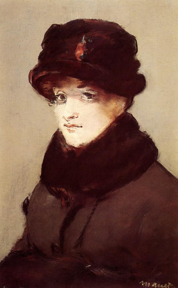 Woman In Furs Portrait Of Mery Laurent by Édouard Manet
