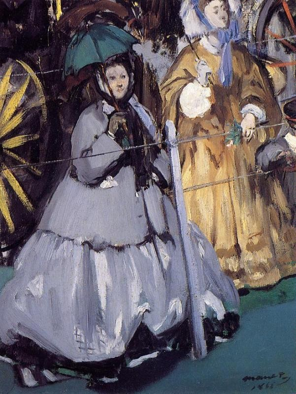 Women At The Races by Édouard Manet