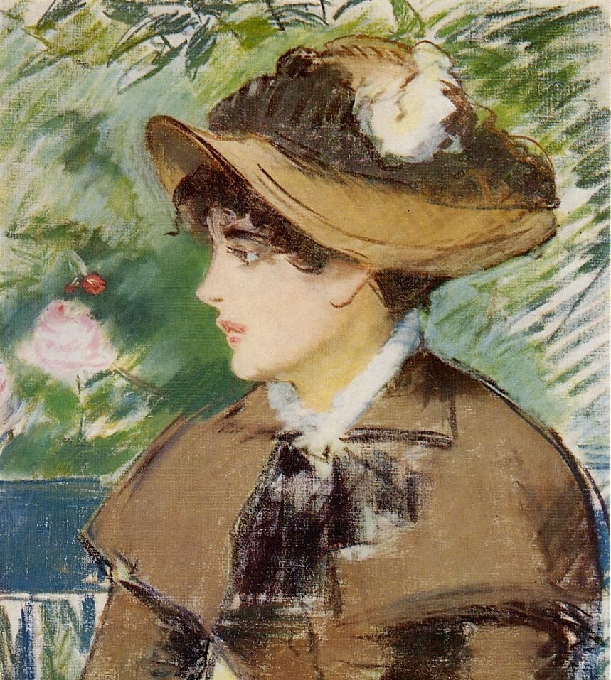 Young Girl On A Bench by Édouard Manet