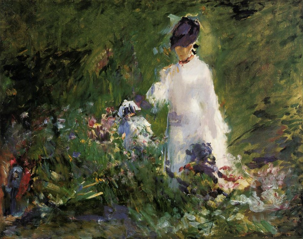 Young Woman Among The Flowers by Édouard Manet