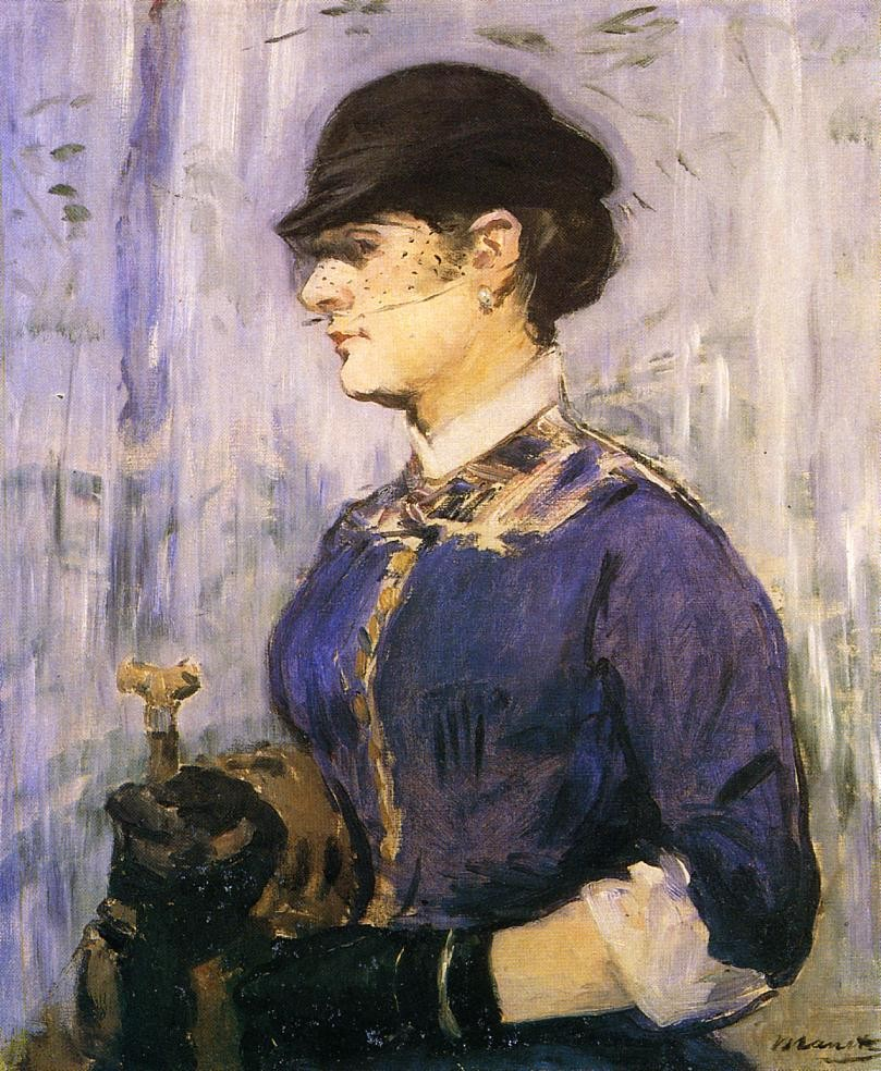 Young Woman In A Round Hat by Édouard Manet