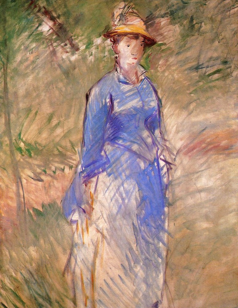 Young Woman In The Garden by Édouard Manet