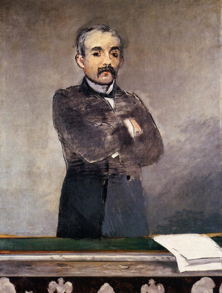 Portrait Of Clemenceau At The Tribune by Édouard Manet