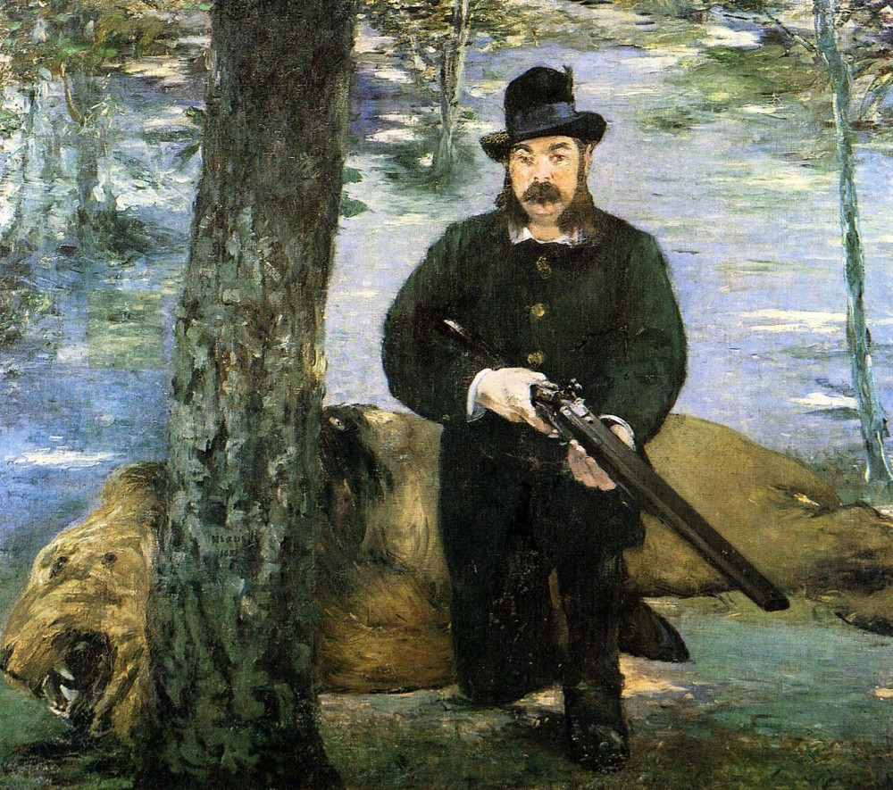 Portrait Of M Pertuiset The Lion Hunter by Édouard Manet