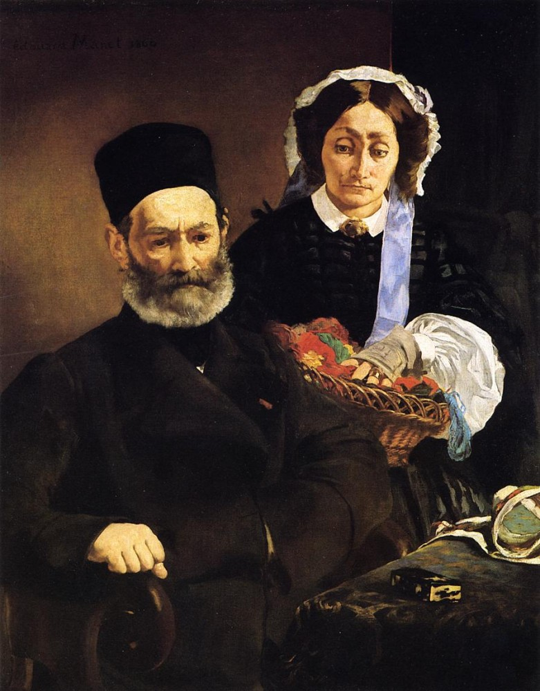 Portrait Of Monsieur And Madame Manet by Édouard Manet