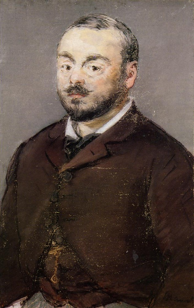 Portrait Of The Composer Emmanual Chabrier by Édouard Manet