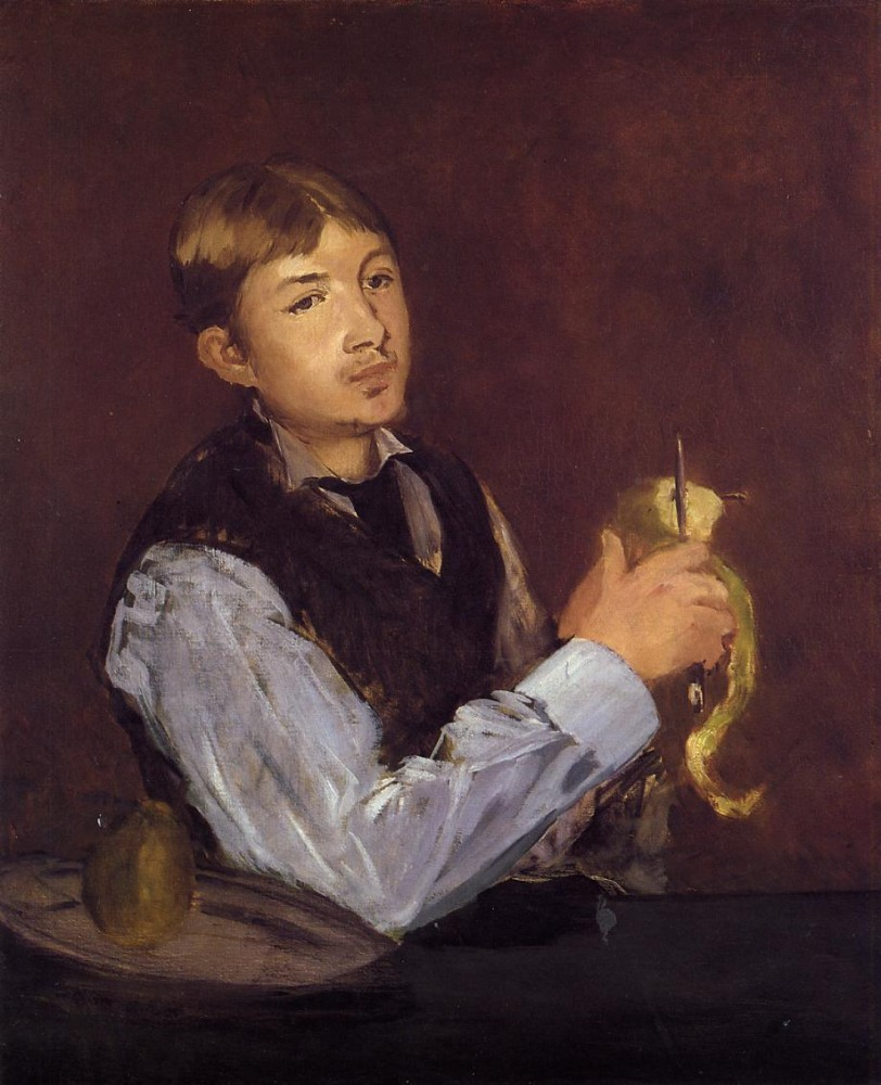 Young Man Peeling A Pear by Édouard Manet